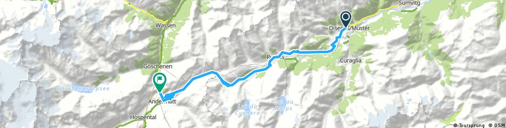 Chasing Cancellara Disentis - Andermatt