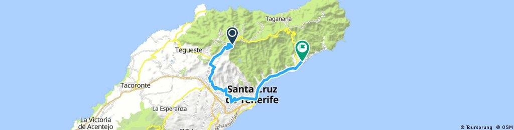 S.C. de Tenerife - Playa de las Teresitas - Macizo de Anaga - La Laguna - 2012-10-02 - MTB