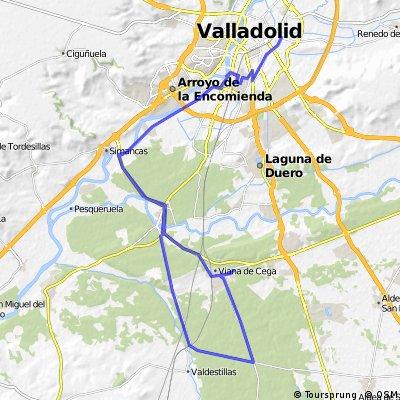 Valladolid-Viana-Valdestillas-Simancas-Valladolid