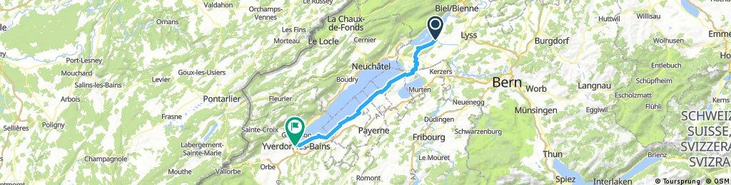 CH 500: Bieler See - Lac de Neuchâtel (Veloroute 5)