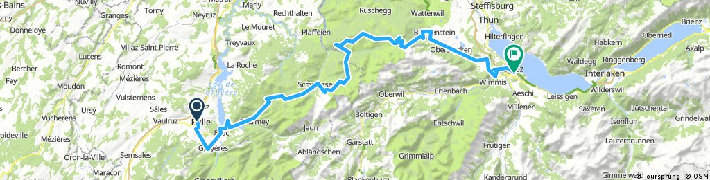 CH 502: Bulle - Charmey - Spiez/Thuner See (Velorouten 9, 2)