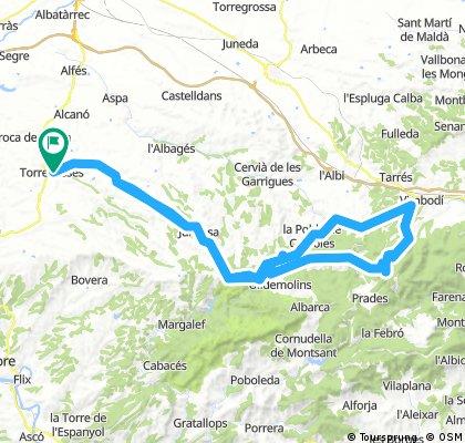 Torrebesses - Poblet - Torrebesses 115Km. 1500m.d+