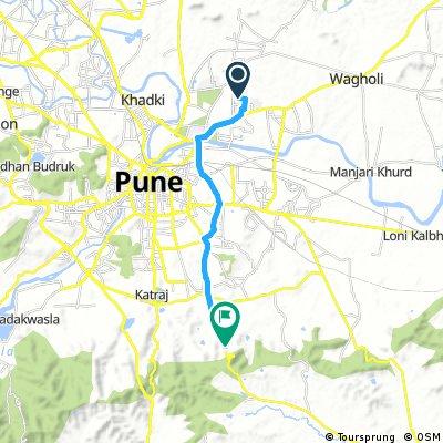 Vimannagar To Saswad Bopdev Road