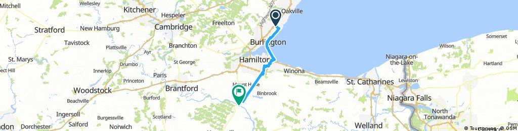 Burlington, ON - Caledonia, ON (Grand River)