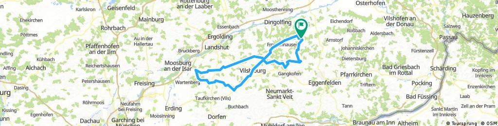 Durchs Vilstal Rtg Moosburg - Vilsbiburg zurück