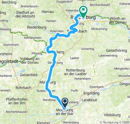 Moosburg-Bad Gögging-Regensburg