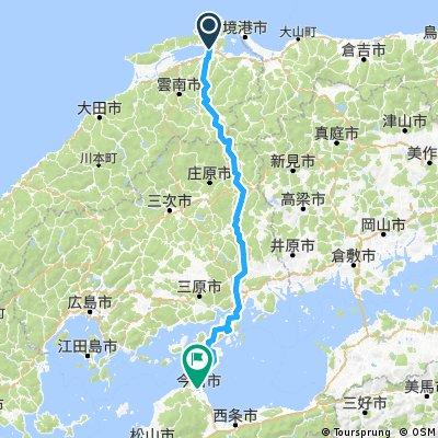 Matsue to Imabari (One way)