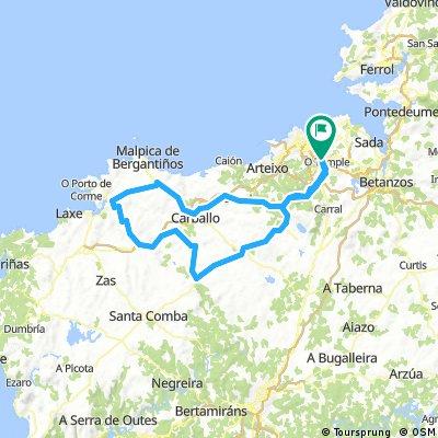 Canteira - Carballo - Ponteceso - Agolada - Coristanco - Anxeriz -A Silva - Cerceda