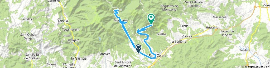 20180213 Santa Maria de Palautordera-Montsent-Santa Maria-Campins-Tunel