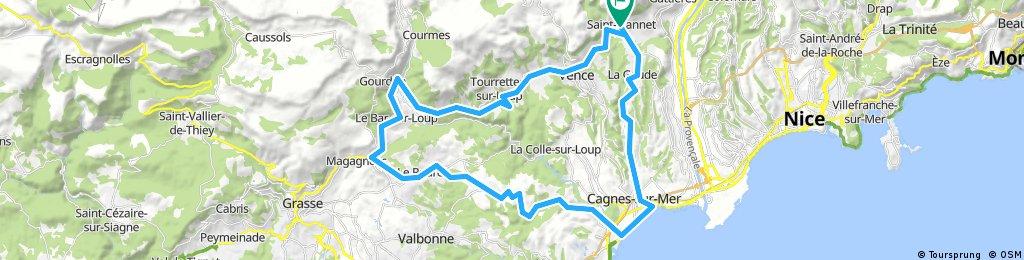 Circuit Hiver Saint-Jeannet  via Bord de Mer