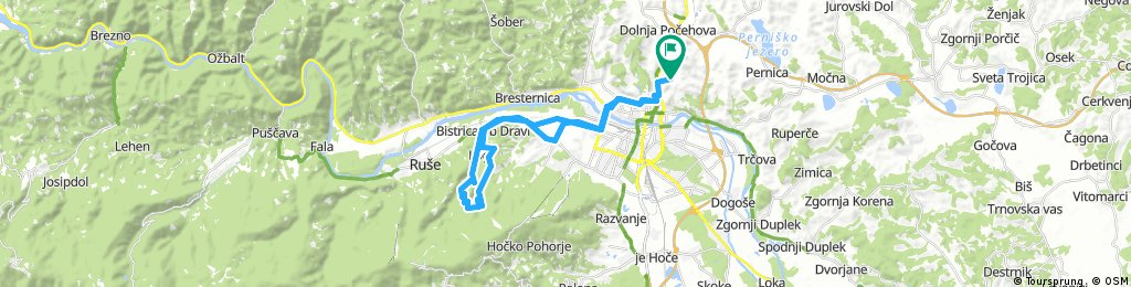 Košaški dol - Bistrica ob Dravi - Log (gozd) - Pečke - Log (cesta) - Limbuš - Pekre - Košaki