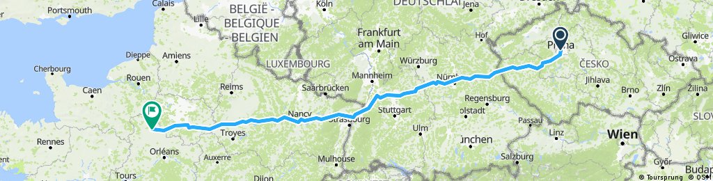 Prague to Chartres