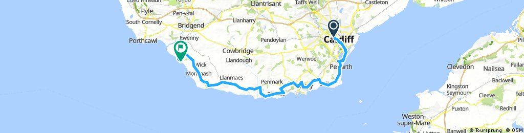 Cardiff to Southerndown