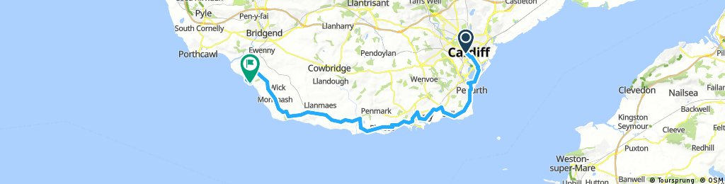 Cardiff to Southerndown via Porthkerry Country Park