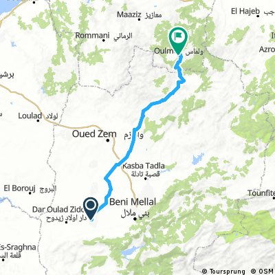 Tour du Maroc - HI/MO Awlad An Nama to Oulmes