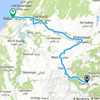 Tour du Maroc - FL Oulmes to Rabat