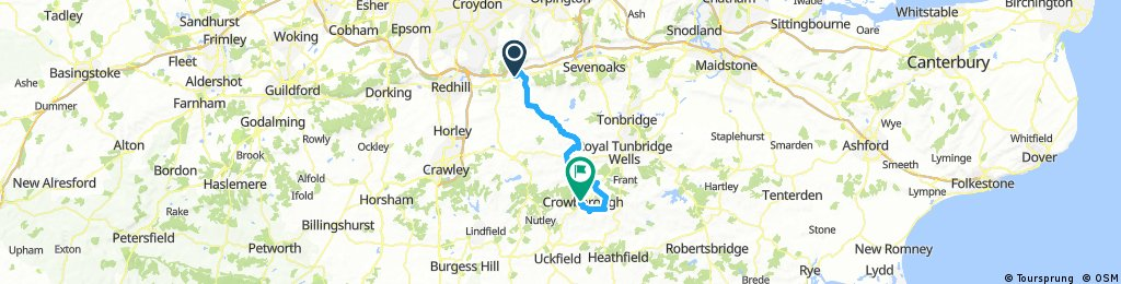 Oxted to crowborough