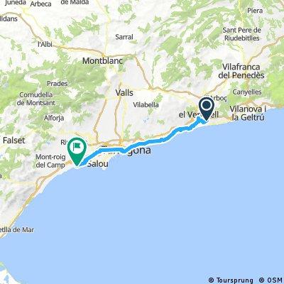 calafell cambrils 54 km