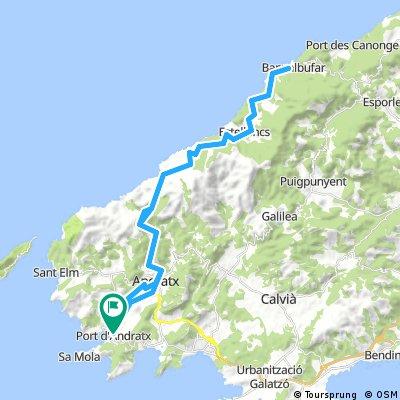 Mallorca: Port d'Andratx-Estellencs-Banyalbufar-Port d'Andratx