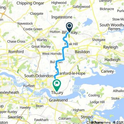 Billericay to Tilbury
