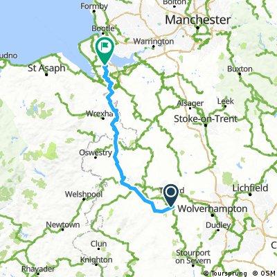 Coalport to Chester