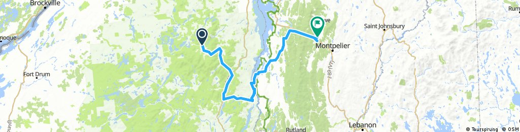 Lake Placid NY to Stowe Vermont Day 17