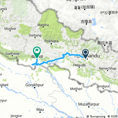 Kathmandu to Sunauli, Lumbini and Butwal