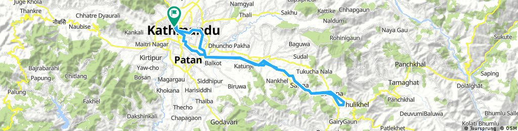 First Cycling to KU, Dhulikhel