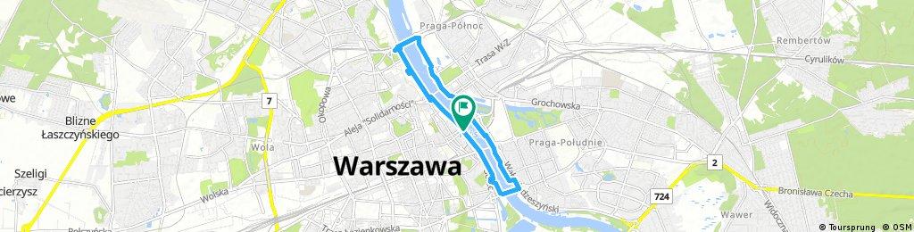 Warszawa z widokiem na Wisłę