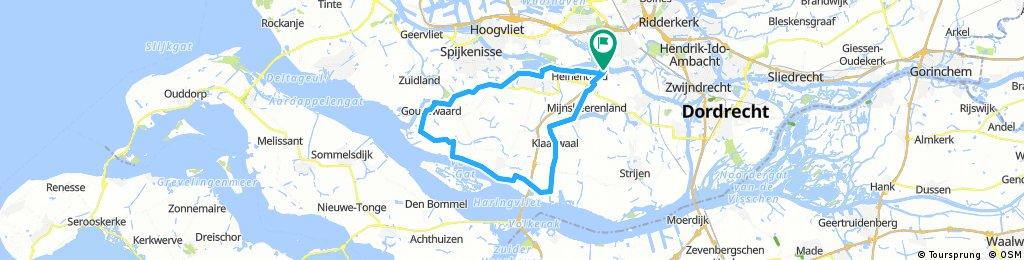 Rondje Hoekse Waard 52km
