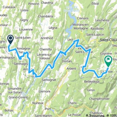 Deuxième étape du tour B-FC 2018 - 92.3km 2020D+