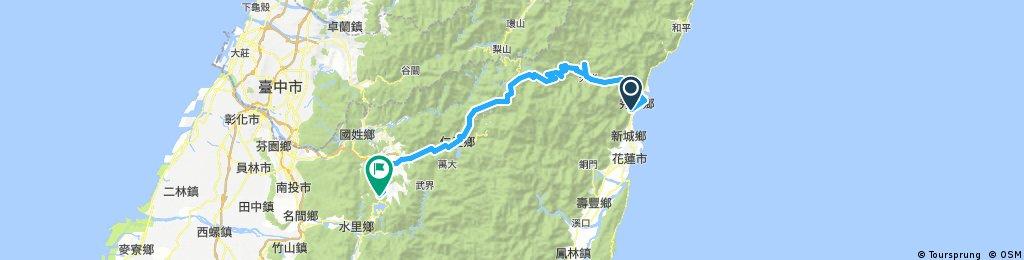 6. den. Prejazd Taroko gorge k jazeru Sun-Moon.