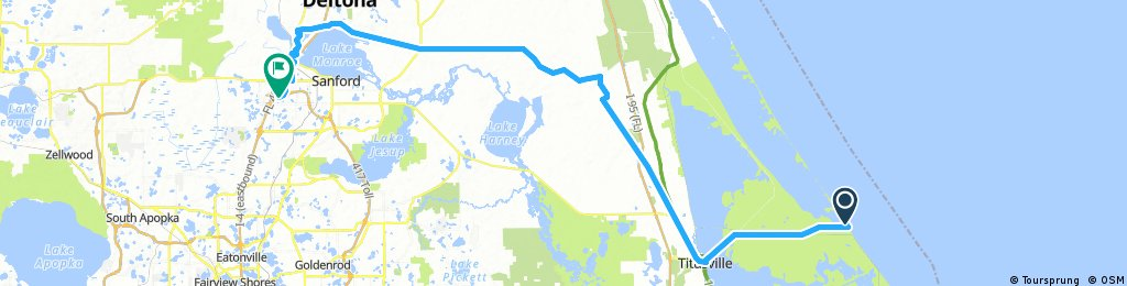 Day 1- Cape Canaveral Florida to Cycle Gear bike shop in ...