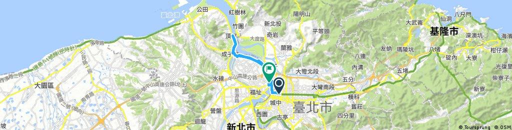 中山站-台北橋-關渡橋