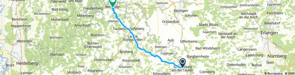 Taubertalradweg 81 km