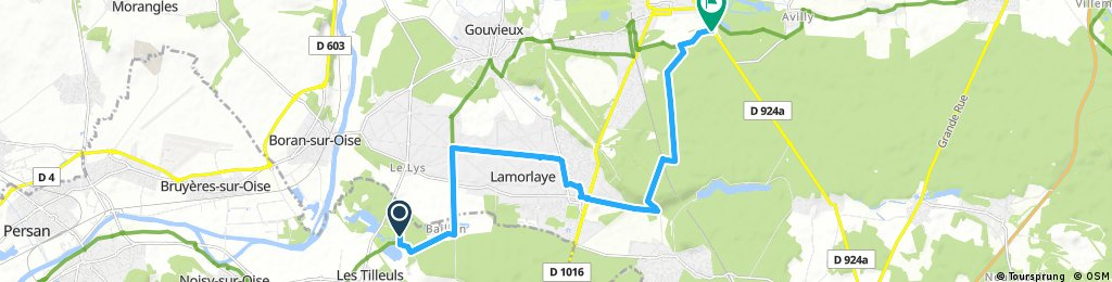 Royaumont to Chantilly