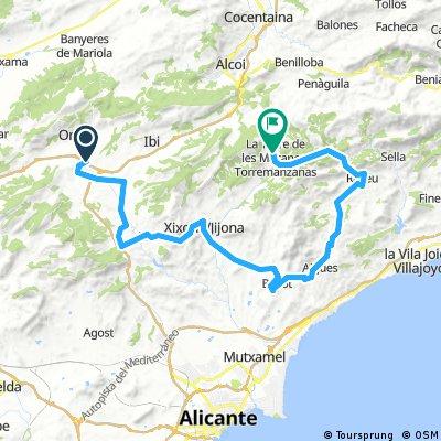 Alc - Val Castalla- Torremanzanas (Sester) 80 km 2018