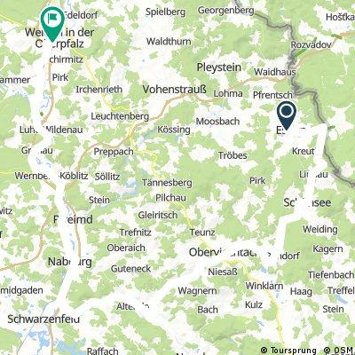 Eslarn - Schönsee - Oberviechtach - Nabburg - Weiden
