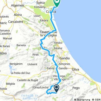 Alc - Val Beniali - Cullera 75 km