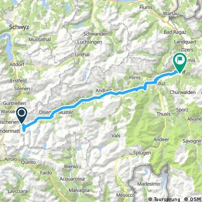 Oberalppass to Chur