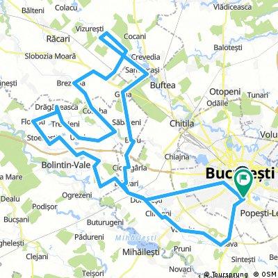 Progresul-Bragadiru-Dârvari-Bolintin Deal-Florești-Joița-Tărtășești-Ciocănești-Gulia-Ciorogârla-Dârvari-Domnești-Prelungirea Ghencea-Tineretului