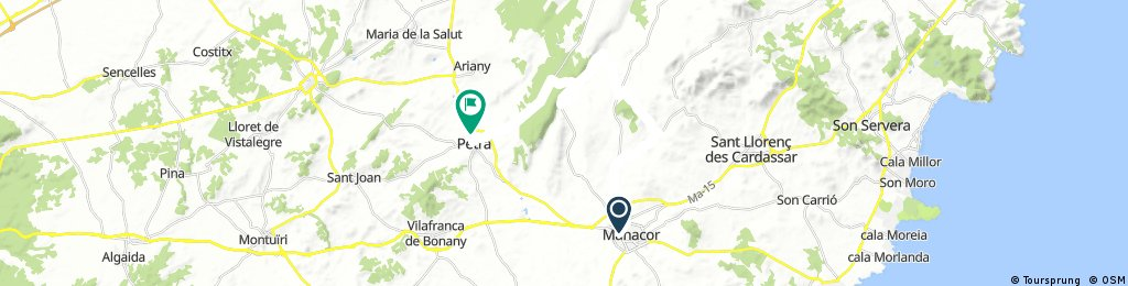 Mallorca: Manacor-Petra per sa Vall