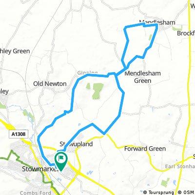Stowmarket, gipping, Mendlesham