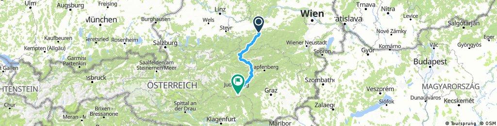Tag2 Nord Süd/ Scheibbs - Obdach 172km