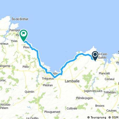 matignon - lanloup 84.6km day 2