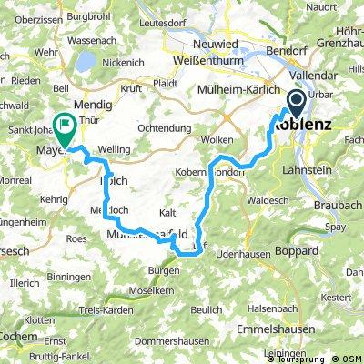 Von Mayen (Osteifel) nach Koblenz (Rhein)