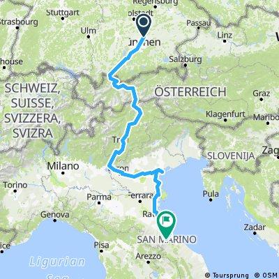 Eurovelo 2 (Germany - Austria - Italy)