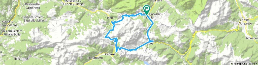 Corvara-Campolongo-Pordoi-Sella-Gardena-Corvara