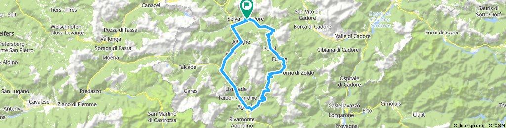 Selva Di Cadore - Passo Staulanza - Passo Duran -