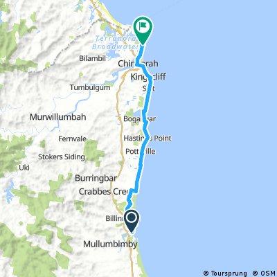 Brunswick to Tweed Beach and River Ride